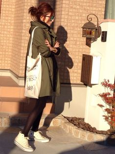 mayumiさんのモッズコート「JOURNAL STANDARD バックサテンモッズコート #」を使ったコーディネート