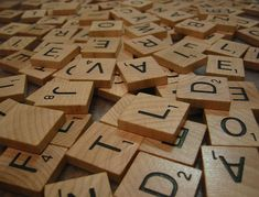Complete Set Lot 400 Wooden Scrabble Tiles Scrap by americarox1049, $39.99