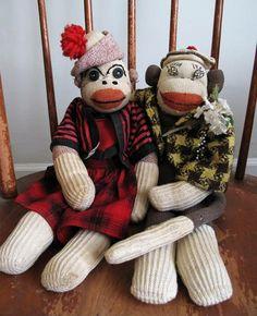 Image detail for -frida.franklin.vintage.sock.monkeys.jpg