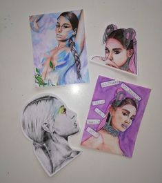 Handmade Ariana Grande stickers - God is a woman, Thank U next, 7 rings, No tears left to cry, Sweetener Cat Valentine, Sticker Paper, Stickers, Ariana Grande Drawings, Ariana Grande Sweetener, Star Comics, Thank U, Beautiful Drawings, Cool Artwork