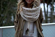 I love big scarfs