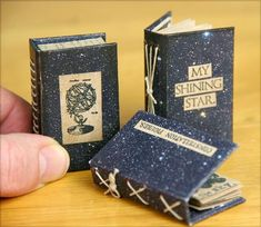 Constellations Matchbox Library - a trio of books with tutorial!