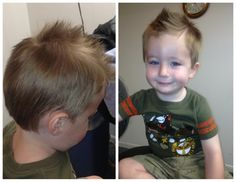 Kids Cut styled in a Fohawk! So cute!