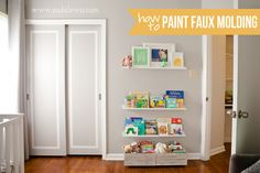 Nursery : Paint Faux Molding on Sliding Closet Doors » Casa de Lewis