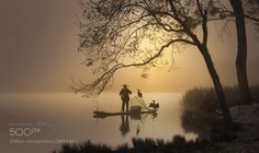 Fishing on the lake by Daniel_Metz