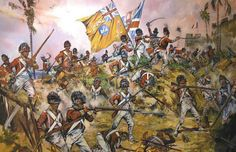27th(Inniskilling) Regiment of Foot storming the Fort at St.Lucia, W.Indies 1796.