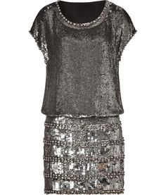 collette dinnigan- GORGEOUS: SEE MORE HERE: Antique Silver Sequined Cap Sleeve Dress