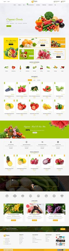 Ideas Pet Store Layout For 2019 Ecommerce Website Design, Website Design Layout, Web Design, Organic Food Delivery, Restaurant Themes, Cake Decorating With Fondant, Store Layout, Photoshop, Fruit Recipes