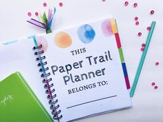 My Drifting Desk | Paper Trail Planners - Customizable planners for the new year. Get organized with Splash of Serenity, our watercolor planner.