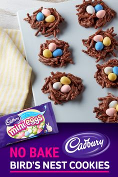 If you're looking for a tasty, fun and easy Easter dessert recipe, this Chocolate Peanut Butter Nests recipe from HERSHEY'S Kitchens checks all the boxes. Easy Easter Desserts, Easter Snacks, Spring Desserts, Easter Candy, Easter Treats, Easter Recipes, Holiday Desserts, Holiday Baking, Holiday Treats