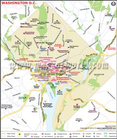 Washingtondc Map Shows The Us Capital City S Roads Rail Network Airports And