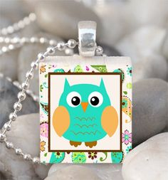 Scrabble Tile Pendant Owl Pendant Spring Owl by IncrediblyHip, $6.00