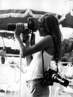 Jane Birkin  vintage everyday: Celebrities as Photographers – 31 Interesting Photos Show Famous People With Their Nikon F Cameras
