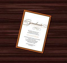 Graduation Invitation  Digital File by jujubeedesign on Etsy, $15.00