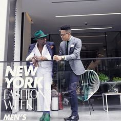Talking menswear with my man @defustel.officiel after yesterday's presentation. It was great meeting you brother.  #nyfwm