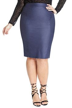 Women's Faux Leather Luca Pencil Skirt *** Continue @