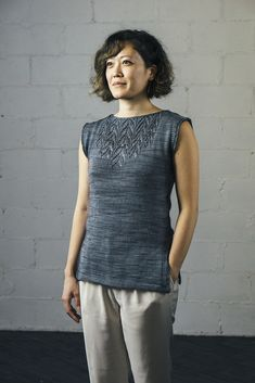 Ravelry: Arequita Tunic pattern by Susanna IC Summer Knitting, Lace Knitting, Knitting Stitches, Knitting Patterns Free, Sweater Patterns, Tunic Pattern, Summer Skirts, Knitted Tank Top, Knit Crochet
