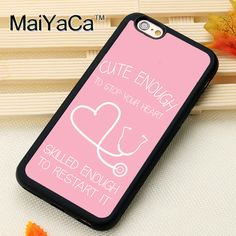 >> Click to Buy << Pink Nurse Stethoscope Heart Style Soft Rubber Back Case Cover For iPhone 6 6S Plus 7 7 Plus 5 5S 5C SE 4 4S Mobile phone bag #Affiliate