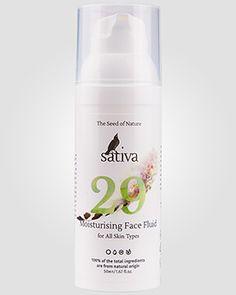Sativa Увлажняющий крем-флюид № 29 для всех типов кожи | Интернет-магазин профессиональной косметики для волос от ведущих мировых брендов shampoosik.ru 7 495 77-44-99-0