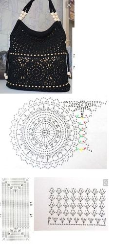 Crochet Bag Tutorials, Crochet Crafts, Crochet Projects, Crochet Handbags, Crochet Purses, Crochet Wool, Free Crochet, Crochet Designs, Crochet Patterns
