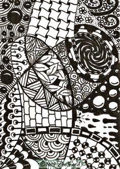 SALE  ACEO Original Art Card Zentangle Every by TopFloorTreasures, $4.00