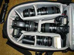 My Canon lenses & perfect case