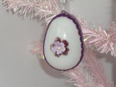 Vintage Blown Glass Easter Egg Ornament by ItsMeConnieJean on Etsy