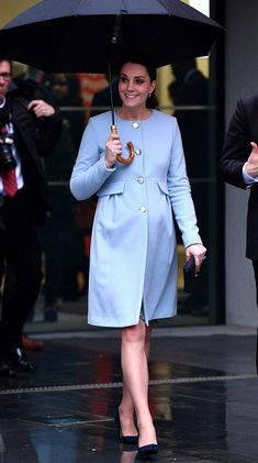 Catherine, Duchess of Cambridge in Seraphine visits the Maurice Wohl Clinical Neuroscience Institute. #bestdressed