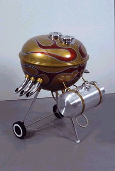 Who wouldn't want a hot rod bbq? Car Furniture, Oldschool, Man Up, Diy Décoration, Baby Leggings, Automotive Art, Bbq Grill, Barbecue, Custom Paint