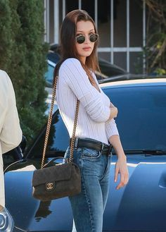 Bella Hadid and her Chanel Flap Bag