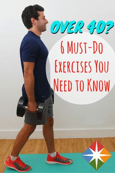 Here are the 6 must-do moves for everyone over 40. You'll thank us later when you're stronger, have more flexibility and are injury-free the next time you workout.