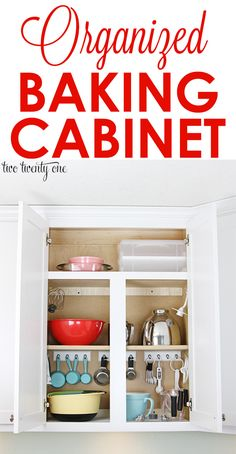Organized Baking Cabinet. Organization for one of the most used rooms in your home!