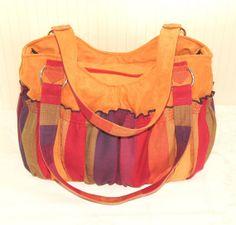 Kangala Autumn Orange Big Diaper Bag Rainbow Bag by kangala, $59.00