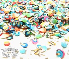 Polymer clay slices, already sliced and ready to use in your crafts! Use them for mini projects, as sweets or cupcake toppings and even in nail arts.  Comes in a pack of assorted  Measures 5mm Made of Polymer Clay  Discounted Shipping fees for any additional items.  For Other Sets of Polymer Clay Slices, Please visit the Following Link: https://www.etsy.com/hk-en/shop/Misutikku?ref=l2-shop-info-avatar&search_query=psc
