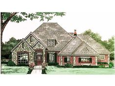 spacious one level house plan with bonus 48346fm european french country traditional photo gallery 1st floor master suite butler walk in p