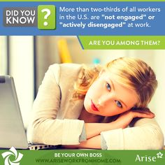 #WorkFromHome Are you among them?  Change the way you work with this unique small business opportunity - http://www.ariseworkfromhome.com/getting-started/?utm_campaign=PIN_SOCAD_2015-11-23_OrganicCont
