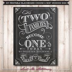 インスタント ダウンロード黒板選ぶ席結婚式のサイン