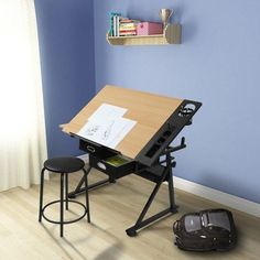 Laptop Computer Stand Board Set Stool Office Work Table