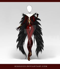 **I do so wish this were real. It's my Evil Queen/Dark Phoenix dream outfit come to life. RegalFire <3 ***  (CLOSED) Adoptable Outfit Auction 45 by Risoluce on DeviantArt