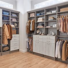 Make your closet an organizational masterpiece.  Featured: MasterSuite in Washed White  #ClosetMaid #MasterCloset #WalkInCloset #ClosetGoals #DreamCloset #CustomCloset Wardrobe Closet, Walk In Closet, Master Bedroom Closet, Bedroom Closets, Closet Storage Systems, Pants Rack, Pull Out Shelves, Closet Remodel, Closet Accessories