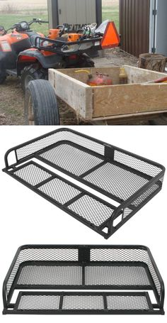 Sturdy, durable cargo rack is designed to mount onto your ATV's rear, factory-installed rack to provide additional storage space. Storage Boxes, Storage Spaces, Atv Racks, Atv Implements, Honda Pioneer 500, Utv Accessories, Cargo Rack, Quad Bike, Four Wheelers