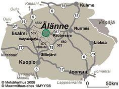Älänteen kulkuyhteyskartta © Metsähallitus 2006 Map, Travel, Viajes, Location Map, Destinations, Maps, Traveling, Trips, Tourism