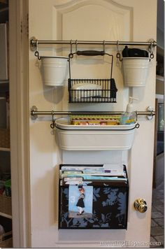 Kitchen Command Center- hmmmm this could also work really well. Ikea hack?
