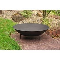 Round Outdoor Metal Fire Pit Bowl for Garden Patio Heating in Garden & Patio, Barbecuing & Outdoor Heating, Firepits & Chimeneas | eBay