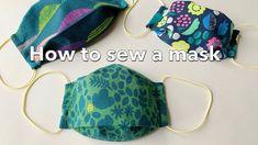 一枚の布で出来る立体マスクの作り方 / How To Sew A Mask / 大人用 子供用  / 型紙なしで簡単 / Sewing Tuto...