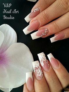 Gorgeous nails. Wedding nails.