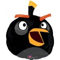 Decorate an Angry Birds party with our Angry Birds Black Bird Super Shape Foil Balloon! Each balloon features a black bomb bird design. Balloon is shipped flat and can be inflated with air or helium. Measures x Includes 1 balloon per package. Metallic Balloons, Black Balloons, Foil Balloons, Angry Birds, Birthday Supplies, Baby Shower Party Supplies, Bargain Balloons, Wholesale Balloons, Qualatex Balloons