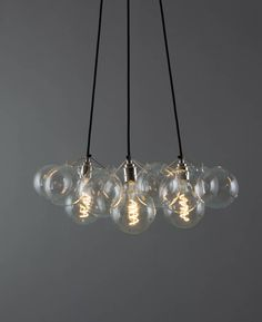 Bubble-Chandelier-3-point-12-bauble-clear-bulb-on