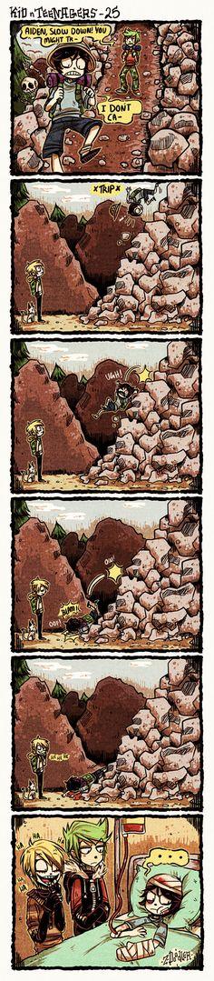 +KnT : Slippery Rocks+ by Z-Doodler.deviantart.com on @DeviantArt
