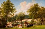 At The River's Brink by Thomas Baker, From the collections of Wednesbury Museum and Art Gallery. Unframed prints from Buy Prints Online, Framed Postcards, History Posters, Personalised Prints, Framed Prints, Canvas Prints, Art Uk, Your Paintings, Art Boards